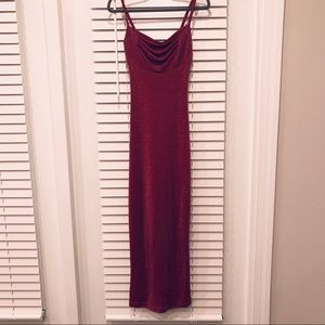 All That Jazz Red Metallic Formal Dress. Size S